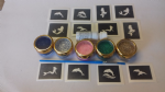 Mermaid & Dolphin mini themed glitter tattoo set including 30 stencils + 5 glitter colours + glue Ariel